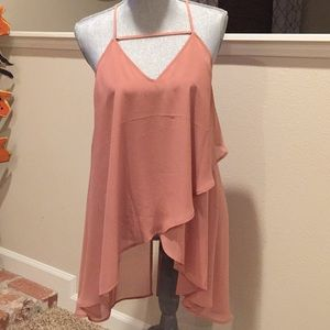 Express high low tunic